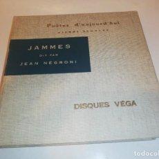 Libros de segunda mano: POETES D'AUJOURD ' HUI, FRANCIS JAMMES , LIBRO + DISCO VINILO, VER FOTOS. Lote 196818233