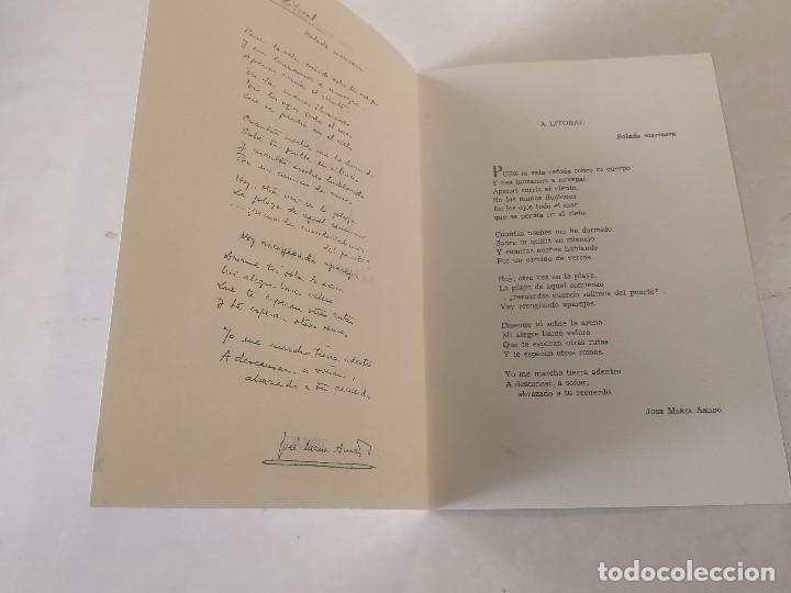 Libros de segunda mano: LITORAL-REV. DE LA POESÍA Y EL PENSAMIENTO Nº100/101/102-103/104/105+BALADA MARINERA DE AMADO(DEDIC - Foto 2 - 199631473