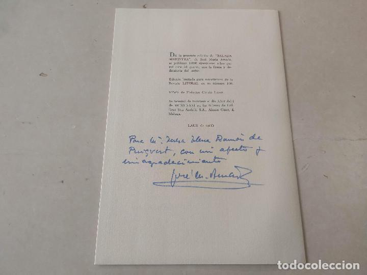 Libros de segunda mano: LITORAL-REV. DE LA POESÍA Y EL PENSAMIENTO Nº100/101/102-103/104/105+BALADA MARINERA DE AMADO(DEDIC - Foto 3 - 199631473