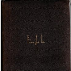 Libros de segunda mano: OBRAS COMPLETAS,FEDERICO GARCIA LORCA 1960. Lote 200254453