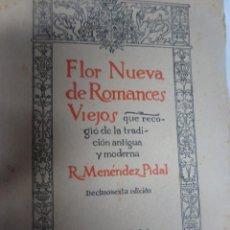 Libros de segunda mano: FLOR NUEVA DE ROMANCES VIEJOS - RAMÓN MENÉNDEZ PIDAL -ESPASA/CALPE, MADRID 1959, VER FOTOS. Lote 200824287