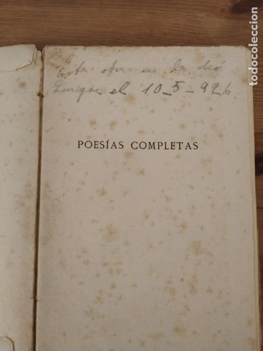 Libros de segunda mano: ANTONIO MACHADO POESÍAS COMPLETAS RESIDENCIA DE ESTUDIANTES MADRID 1917. - Foto 4 - 203552897