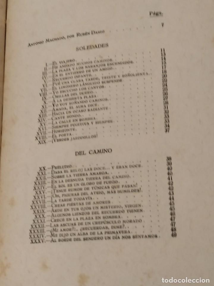 Libros de segunda mano: ANTONIO MACHADO POESÍAS COMPLETAS RESIDENCIA DE ESTUDIANTES MADRID 1917. - Foto 6 - 203552897