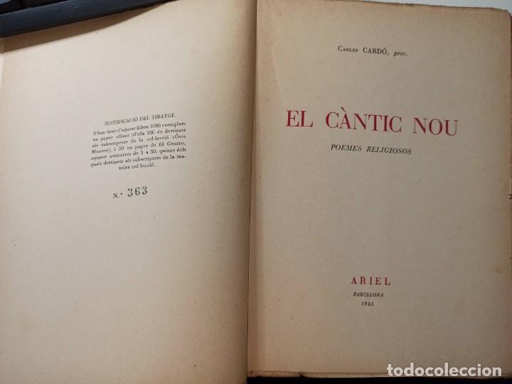 Libros de segunda mano: EL CÀNTIC NOU. CARLES CARDÓ Prev, 1951 - Foto 3 - 204811817
