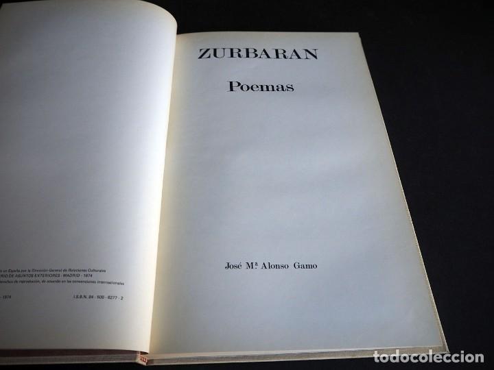 Libros de segunda mano: ZURBARAN.POEMAS. JOSE Mª ALONSO GAMO. 1974. - Foto 3 - 205030405