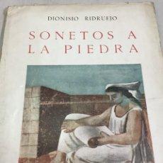 Libros de segunda mano: DIONISIO RIDRUEJO: SONETOS A LA PIEDRA - 1ª EDICIÓN 1943 ILUSTRACIONES DE JOSÉ CABALLERO. Lote 205382425