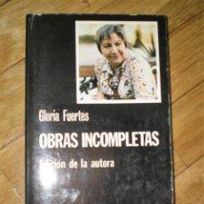 Libros de segunda mano: OBRAS INCOMPLETAS, DE GLORIA FUERTES. Lote 205392121