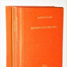 Livres d'occasion: QUE VAN A DAR A LA MAR. POR JORGE GUILLÉN. ILUSTRACIONES DE CANOGAR.. Lote 205552898