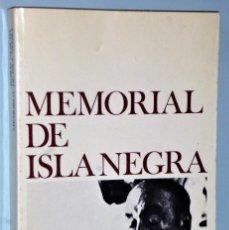 Libros de segunda mano: MEMORIAL DE LA ISLA NEGRA. Lote 205557006