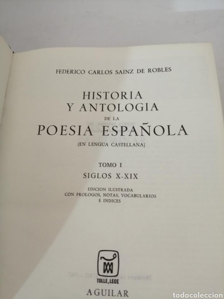 Libros de segunda mano: HISTORIA Y ANTOLOGIA DE LA POESIA ESPAÑOLA . En lengua castellana. Tomo I : Siglo X-XIX - Foto 4 - 205648735