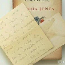 Libros de segunda mano: PEDRO SALINAS POESIA JUNTA EDITORIAL LOSADA, 1942. FIRMADA Y CARTA ENVIADA Y FIRMADA. Lote 205866730