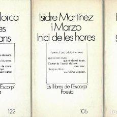 Libros de segunda mano: POESÍA CATALANA - TRES LIBROS: ISIDRE MARTÍNEZ - MARGALIDA PONS - VICENÇ LLORCA. Lote 206968276