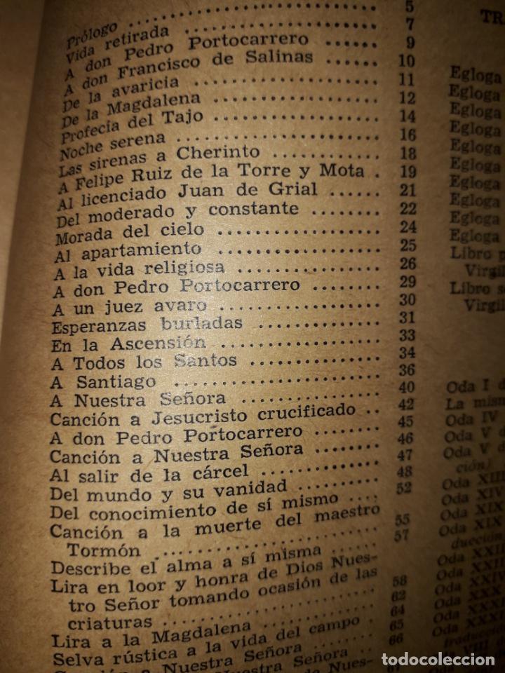 Libros de segunda mano: POESIAS DE FRAY LUIS DE LEON - Foto 2 - 206968655