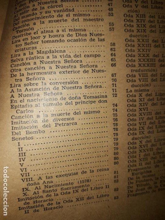 Libros de segunda mano: POESIAS DE FRAY LUIS DE LEON - Foto 4 - 206968655