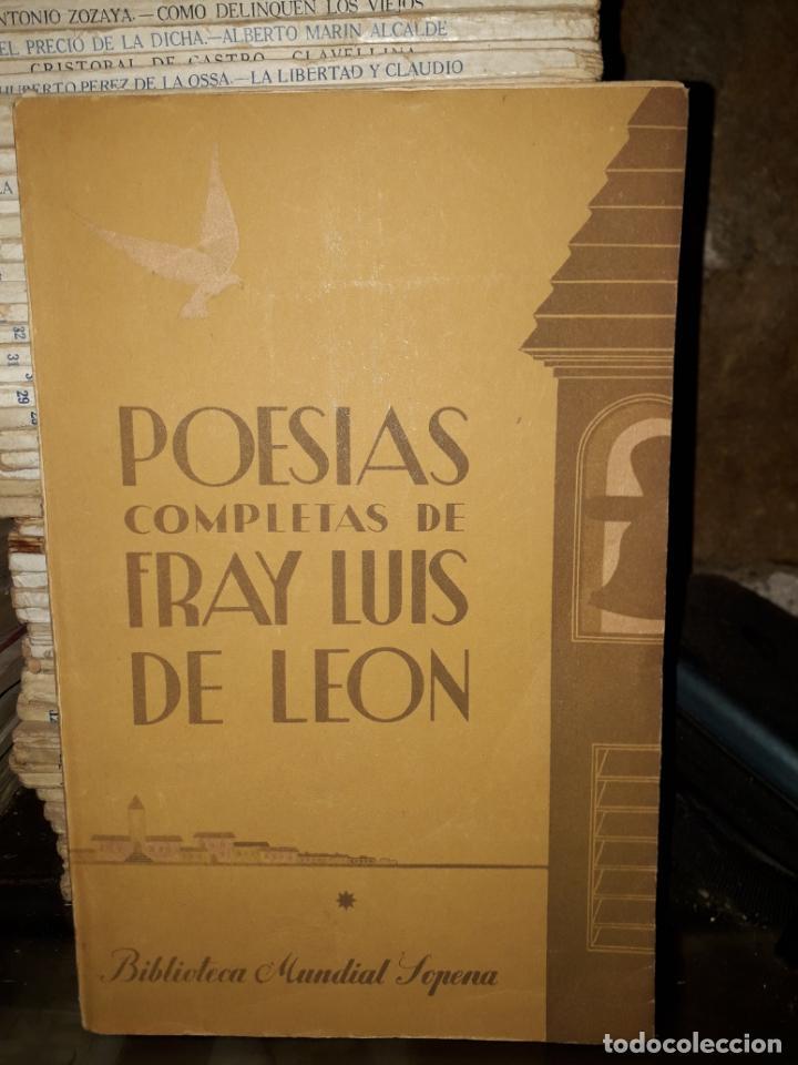 POESIAS DE FRAY LUIS DE LEON (Libros de Segunda Mano (posteriores a 1936) - Literatura - Poesía)
