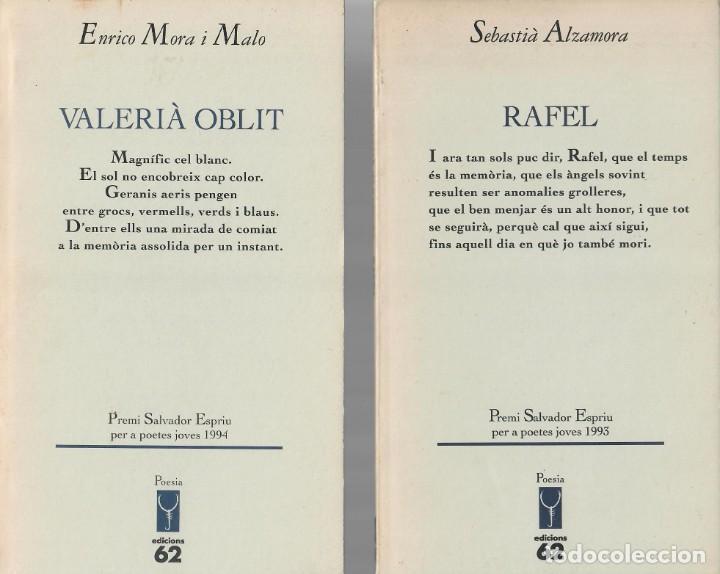 TRES LIBROS DE POESÍA CATALANA: JOSEP L. ROIG - ENRICO MORA - SEBASTIÀ ALZAMORA (Libros de Segunda Mano (posteriores a 1936) - Literatura - Poesía)