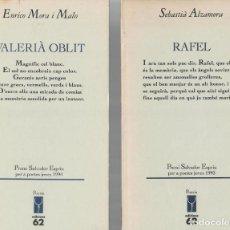 Libros de segunda mano: TRES LIBROS DE POESÍA CATALANA: JOSEP L. ROIG - ENRICO MORA - SEBASTIÀ ALZAMORA. Lote 206969290