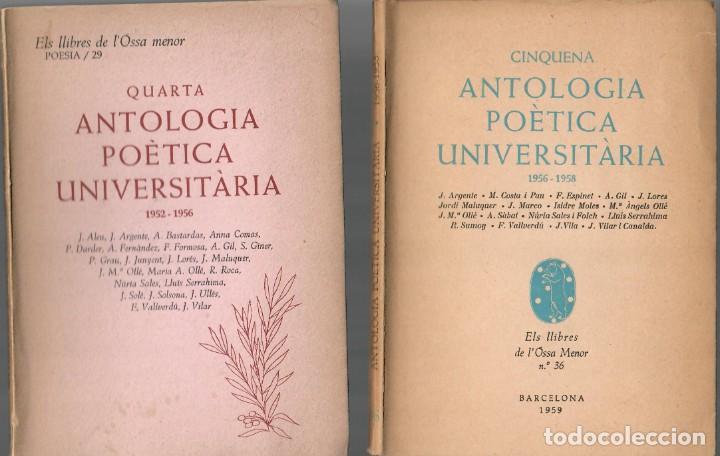 Libros de segunda mano: POESÍA CATALANA - TRES OBRAS: ANTOLOGIA POÈTICA UNIVERSITÀRIA (1950 - 1952/1956 - 1956/1958) - Foto 2 - 206972598