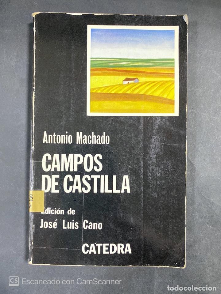 CAMPOS DE CASTILLA. ANTONIO MACHADO. EDICION DE JOSE LUIS CANO. CATEDRA. MADRID, 1981. PAGS:183 (Libros de Segunda Mano (posteriores a 1936) - Literatura - Poesía)