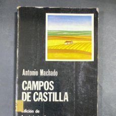 Libros de segunda mano: CAMPOS DE CASTILLA. ANTONIO MACHADO. EDICION DE JOSE LUIS CANO. CATEDRA. MADRID, 1981. PAGS:183. Lote 206974590