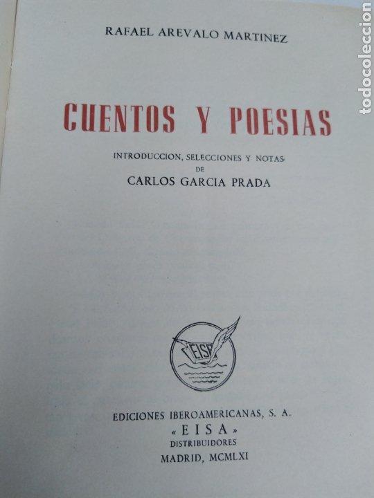CUENTOS Y POESÍAS RAFAEL ARÉVALO MARTÍNEZ 1961 (Libros de Segunda Mano (posteriores a 1936) - Literatura - Poesía)