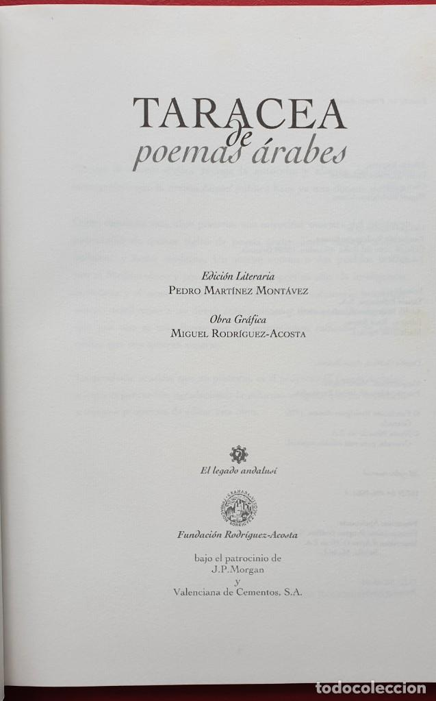 Libros de segunda mano: TARACEA DE POEMAS ÁRABES. FUNDACIÓN RODRIGUEZ ACOSTA - Foto 3 - 207603020