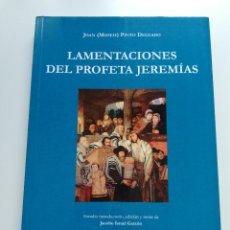 Libros de segunda mano: LAMENTACIONES DEL PROFETA JEREMÍAS (JOAN (MOSEH) PINTO DELGADO). Lote 208136271