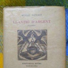 Libros de segunda mano: 1949. LLANTIÓ D'ARGENT. POEMES. MIQUEL SAPERAS.. Lote 209289565