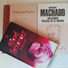 Libros de segunda mano: LOTE DE TRES LIBROS DE POESÍA. Lote 210127325