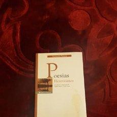 Libros de segunda mano: LIBRO POESÍAS HETERÓNIMOS DE FERNANDO PESSOA. Lote 210525645