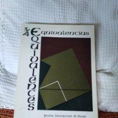 Libros de segunda mano: EQUIVALENCIAS 3/4 REVISTA INTERNACIONAL DE POESÍA. Lote 210591755