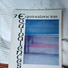 Libros de segunda mano: EQUIVALENCIAS 7 REVISTA INTERNACIONAL DE POESÍA. Lote 210592130