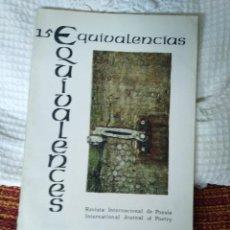 Libros de segunda mano: EQUIVALENCIAS 15 REVISTA INTERNACIONAL DE POESÍA. Lote 210593151