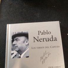 Libros de segunda mano: PABLO NERUDA, DE VIVA VOZ, LOS VERSOS DEL CAPITÁN, LIBRO + CD. Lote 210942970