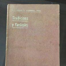 Libros de segunda mano: COSTA Y LLOBERA. TRADICIONS I FANTASIES. MALLORCA. POESÍA.. Lote 210949409
