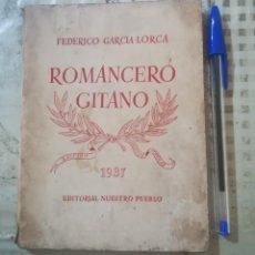 Libros de segunda mano: ROMANCERO GITANO - FEDERICO GARCÍA LORCA - 1937. Lote 211818113