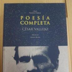 Libros de segunda mano: POESÍA COMPLETA ( CÉSAR VALLEJO ). Lote 211829785