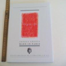 Libros de segunda mano: ÁNGELA ARGOTE, MADE IN PARIS. 2010. COLECCIÓN GENIL DE LITERATURA Nº 50.. Lote 211994992
