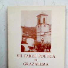 Libros de segunda mano: 1984 VII TARDE POETICA DE GRAZALEMA HOMENAJE A JUAN M. POMAR. Lote 211995316