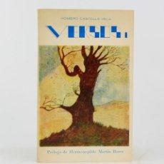 Libros de segunda mano: VERSOS, HOMERO CASTELLS VELA, 1972, 1A EDICIÓN, CON DEDICATORIA, MADRID. 20,5X13CM. Lote 213231387