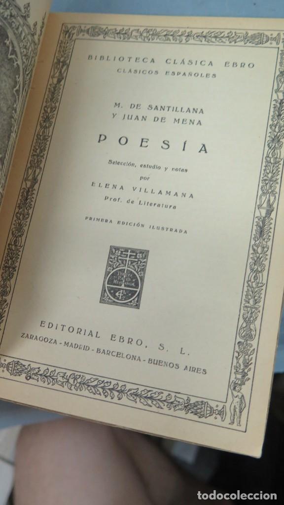Libros de segunda mano: POESÍA (SELECCIÓN). MARQUÉS DE SANTILLANA Y JUAN DE MENA - Foto 2 - 213658490
