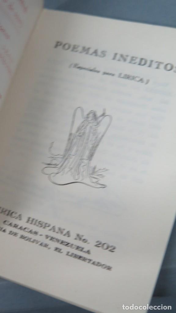Libros de segunda mano: POEMAS INEDITOS. LIRICA HISPANA 202 - Foto 2 - 213662140