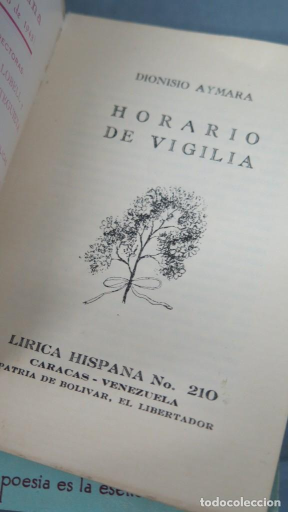 Libros de segunda mano: HORARIO DE VIGILIA. AYMARA. LIRICA HISPANA 210 - Foto 2 - 213662357