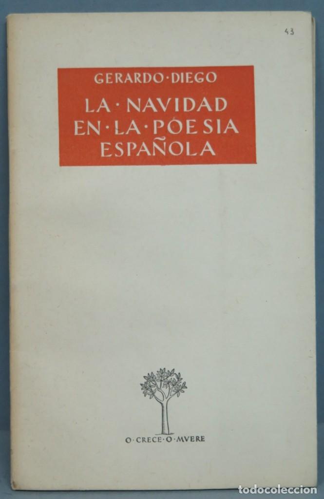 LA NAVIDAD EN LA POESÍA ESPAÑOLA. GERARDO DIEGO (Libros de Segunda Mano (posteriores a 1936) - Literatura - Poesía)