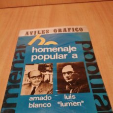 Livres d'occasion: AVILÉS GRÁFICO. HOMENAJE POPULAR. AMADO BLANCO. LUÍS LUMEN. REVISTA.. Lote 214260101