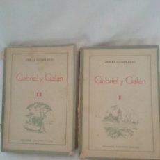 Libros de segunda mano: OBRAS COMPLETAS GABRIEL Y GALÁN 1941. Lote 214341111