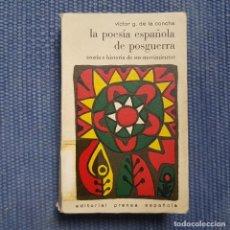 Libros de segunda mano: G. DE LA CONCHA, VÍCTOR: LA POESÍA ESPAÑOLA DE POSGUERRA. TEORÍA E HISTORIA DE SUS MOVIMIENTOS. Lote 217596707