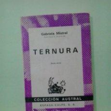 Libros de segunda mano: LMV - TERNURA. GABRIELA MISTRAL. Lote 217675272