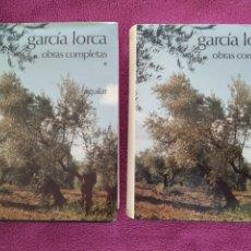 Libros de segunda mano: GARCÍA LORCA. OBRAS COMPLETAS. 2 TOMOS. AGUILAR. Lote 217983941