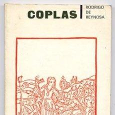 Libros de segunda mano: REINOSA, RODRIGO DE [C.1450-C.1520]. COPLAS. 1970.. Lote 219310575